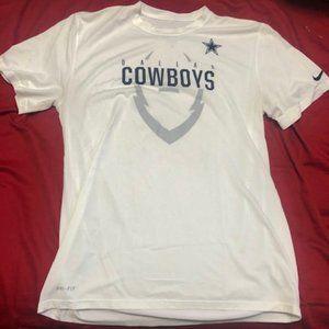Nike Dallas Cowboys Size L Dri Fit Men's NFL White